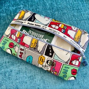 New Penguin Polar Bear Kawaii Vinyl Zipper Pouch